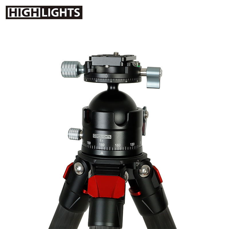 Top Selling Ball Camera Head Aluminium Panoramic Mount Tripod Head With 35KG Load Capacity
