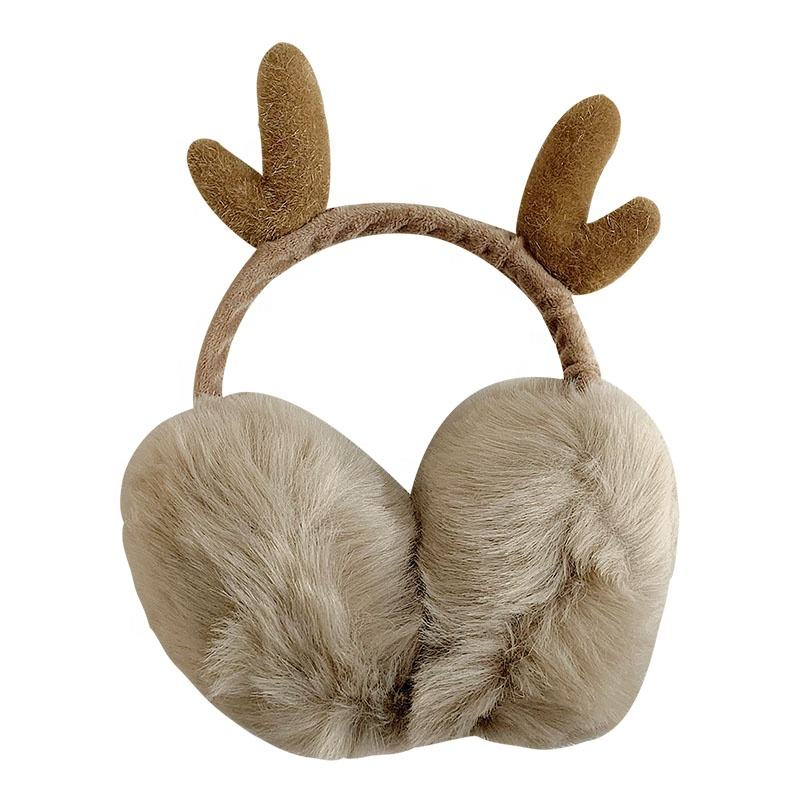 Four People Energy Vehicles Protect Environment Winter Earmuffs Ear Warmers Faux Fur Foldable Plush Outdoor Gift