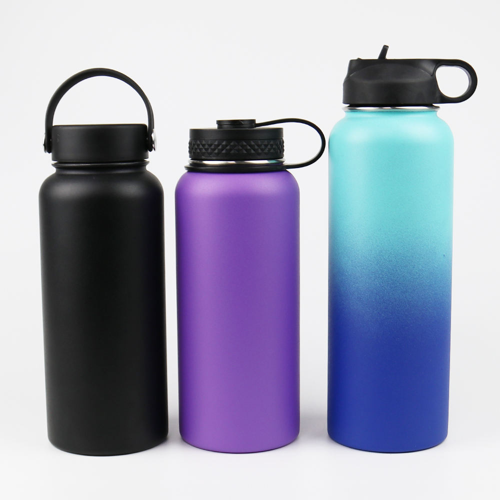 2020 hot selling amazon BPA Free Stainless Steel Wide Mouth Sport Water Bottle/ vacuum thermos insulated flask powder coating