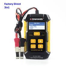 Jiawei Smart Diagnostic tools Car Battery Monitor Konnwei KW510 12V Vehicle Universal Lead-acid Battery CCA Tester with printer