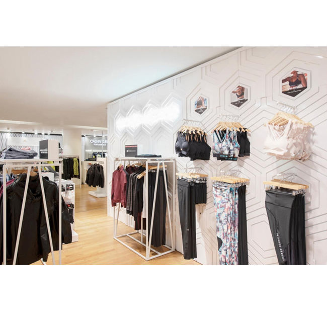 Clothing Store Hanging Jeans Shelf Men's Clothing Women's Window Against The Wall Floor Display Rack