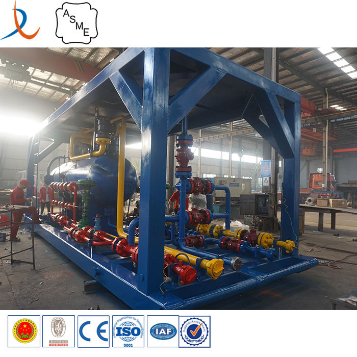 Oilfield gas processing plant horizontal well testing 3 phase separator made in China factory