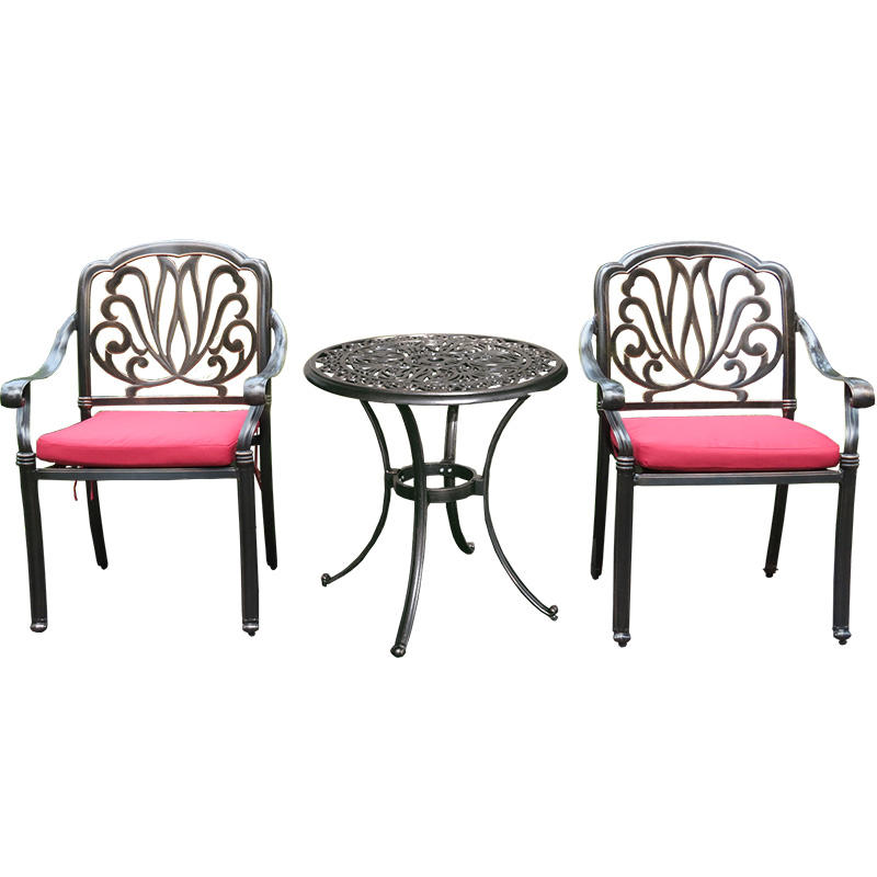 Aluminum Outdoor Furniture Set Patio Anodized Aluminum Outdoor Furniture Casting Aluminum Chairs Leisure Garden Patio Sets
