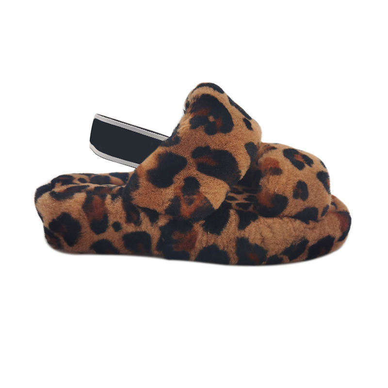 Slippers USA Best-selling Fashion Roman Leopard Print Sandals Ladies Soft And Comfortable Soles Double Strap Flat Slippers