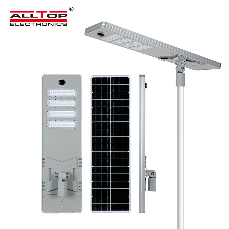 ALLTOP High bright outdoor waterproof Aluminum SMD Ip65 200w integrated all in one solar led street light