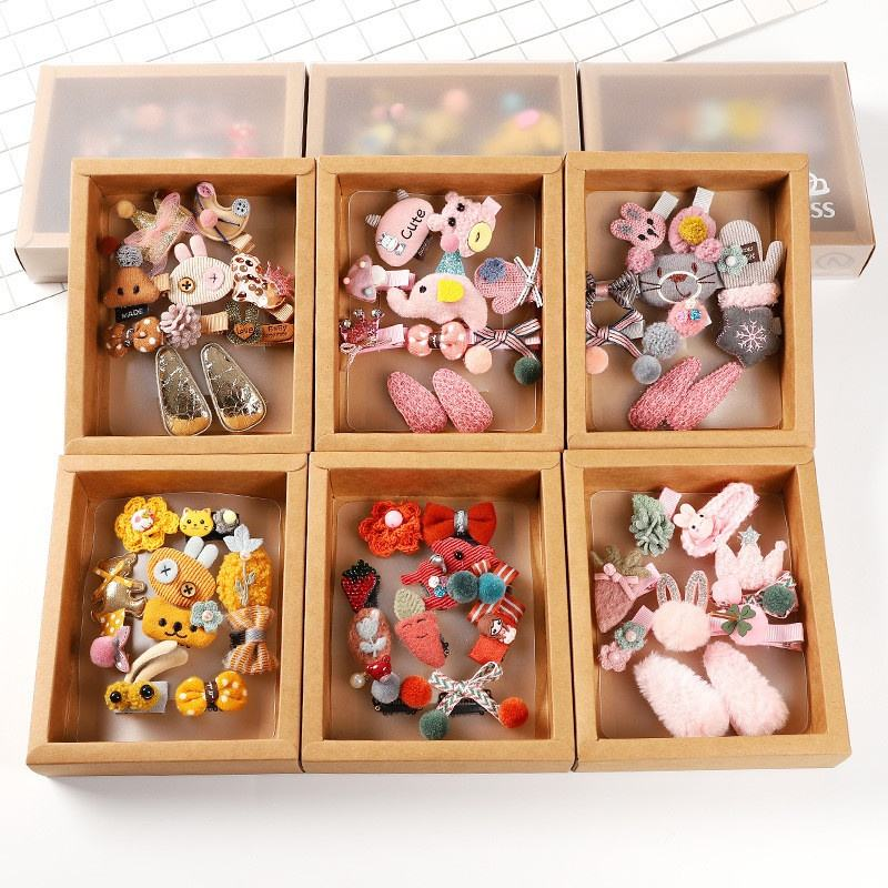 Factory Wholesale Cute Baby Hair Pin Beautiful Hair Clip Set 10ピース/セット