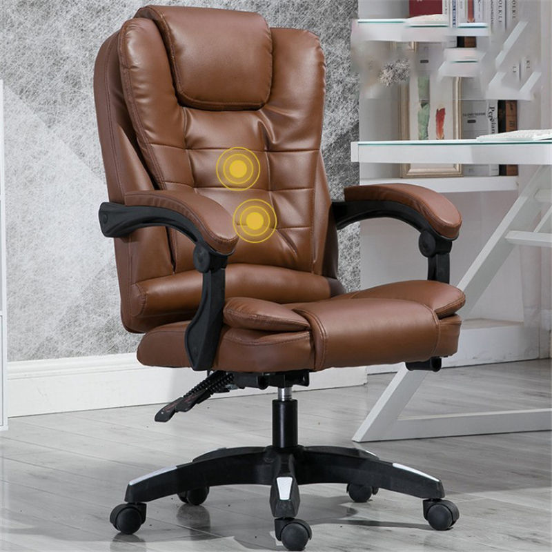 Free sample SOHO PU Leather High back Computer Chair Adjustable Tilt Angle Flip-up Arms Ergonomic Executive Office Chair