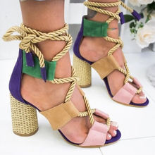 2020 Summer Fashion Roman style Ladies Summer High Heel Women's Sandals