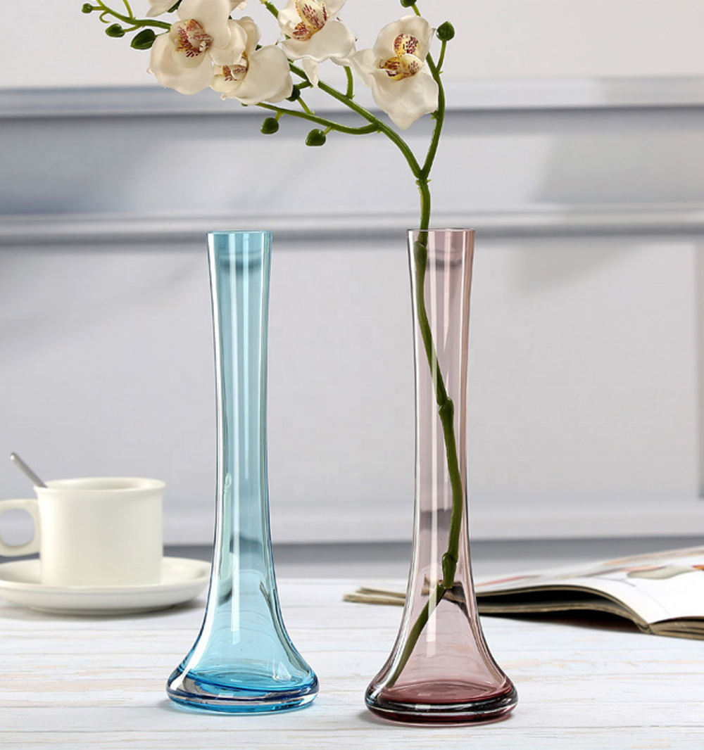 Small Cheap Glass Vase Coloured Glass Vase For Home And Wedding Decoration