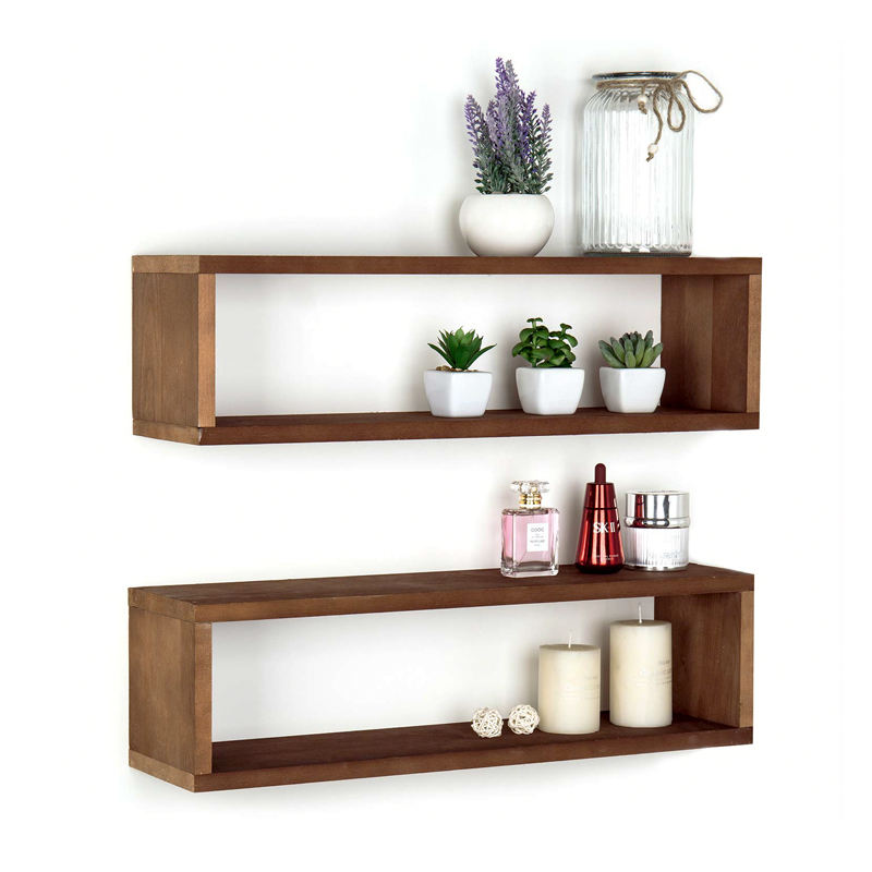 Rustic Wooden Wall Mounted Hanging kitchen inner corner entryway shelf
