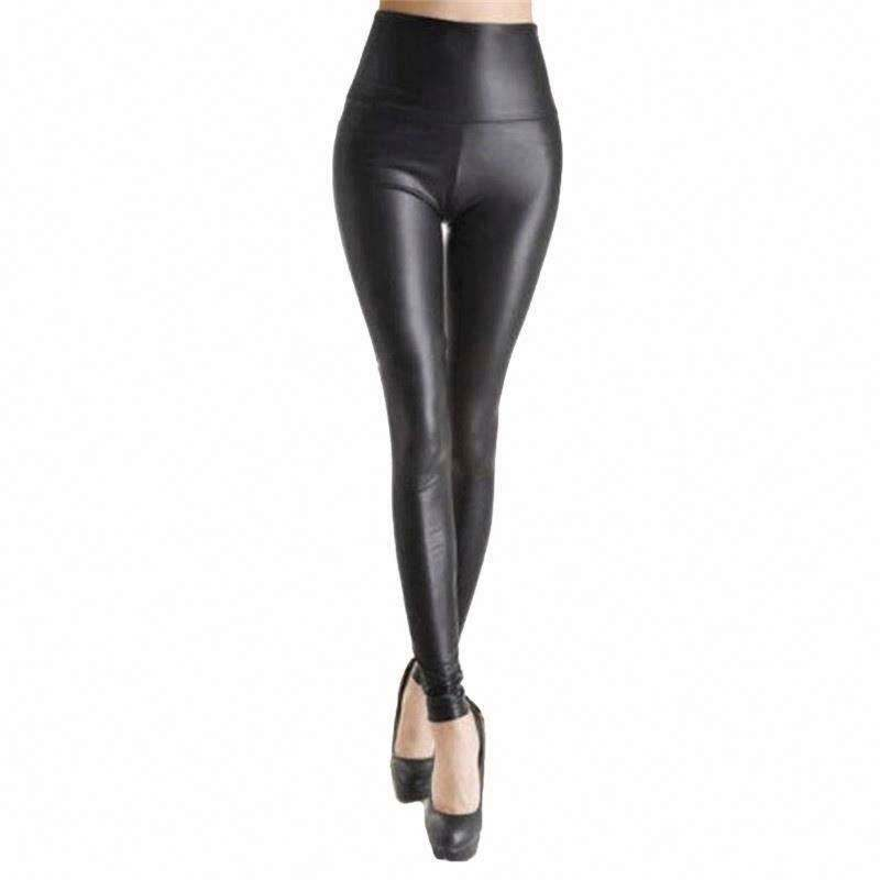 2020 high waist faux leather leggings for women 2020 sexy seamless leggings shiny pants stretchy plus size trousers