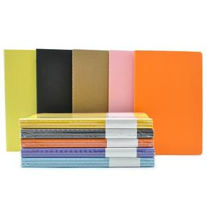 2020 new arrive hot sale a5 color paper sewed simple and cheap school student and children use exercise notebook