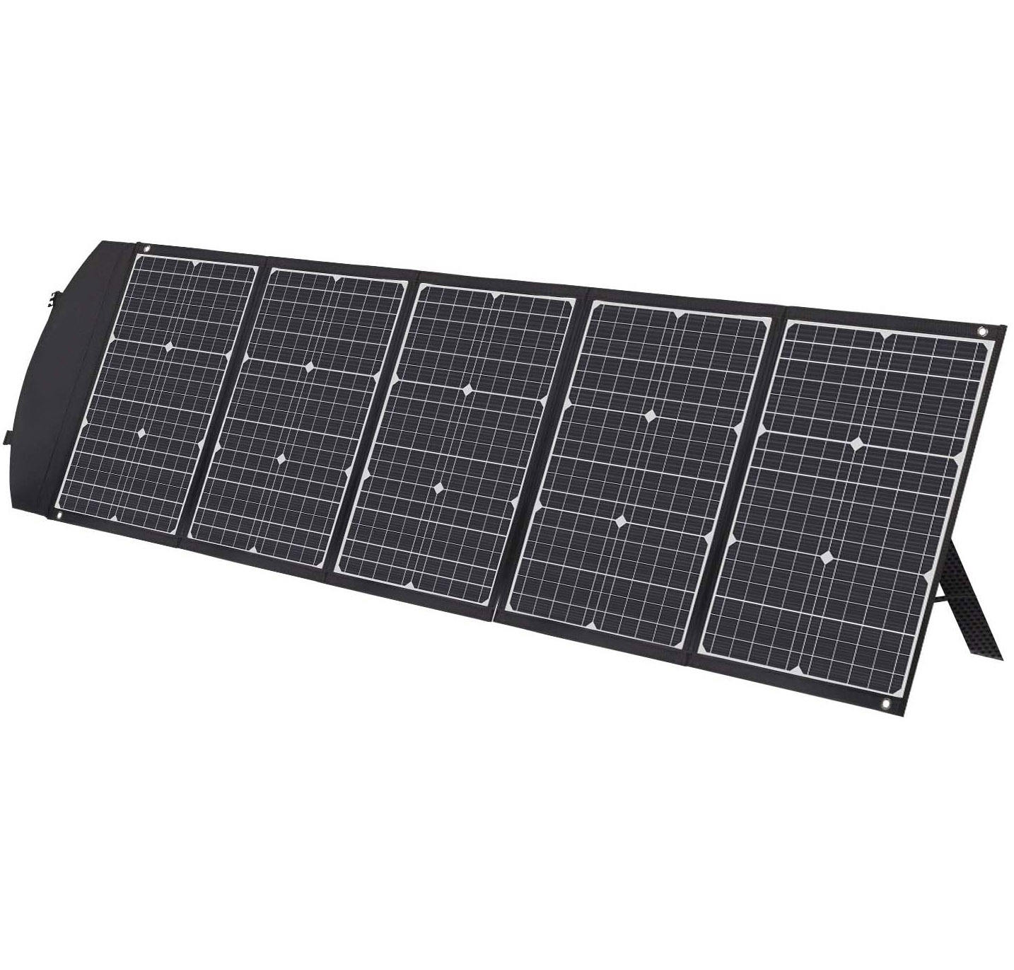 150W Solar Panel Kit Portable Solar Charger with Kickstands Type-C USB-A Compatible with Suaoki Jackery Goal Zero Power Station,