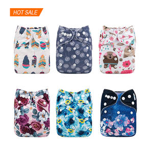 High quality washable reusable cloth diapers with charcoal inserts