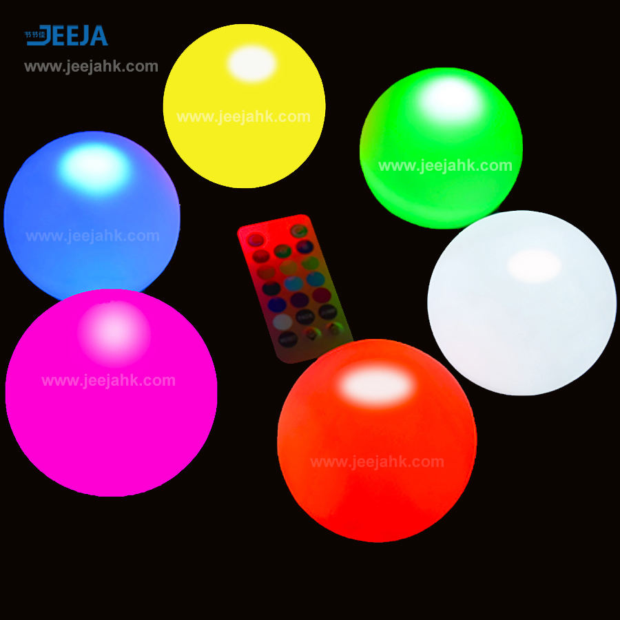 <span class=keywords><strong>Conjunto</strong></span> de 6 Mood Light Pool Decor Bola Orb com Substituição de Baterias