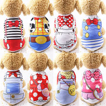 wholesale  custom apparel accessories Spring summer teddy bear mesh print  strap cat vest pet clothes summer dog