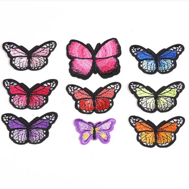 Applique Butterfly Animal 3D custom embroidery patch Iron on