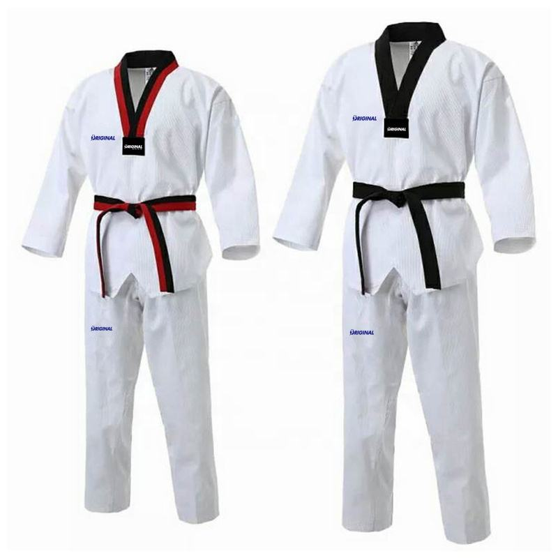 Different Fabric Factory Supply Taekwondo equipment Uniform dobok