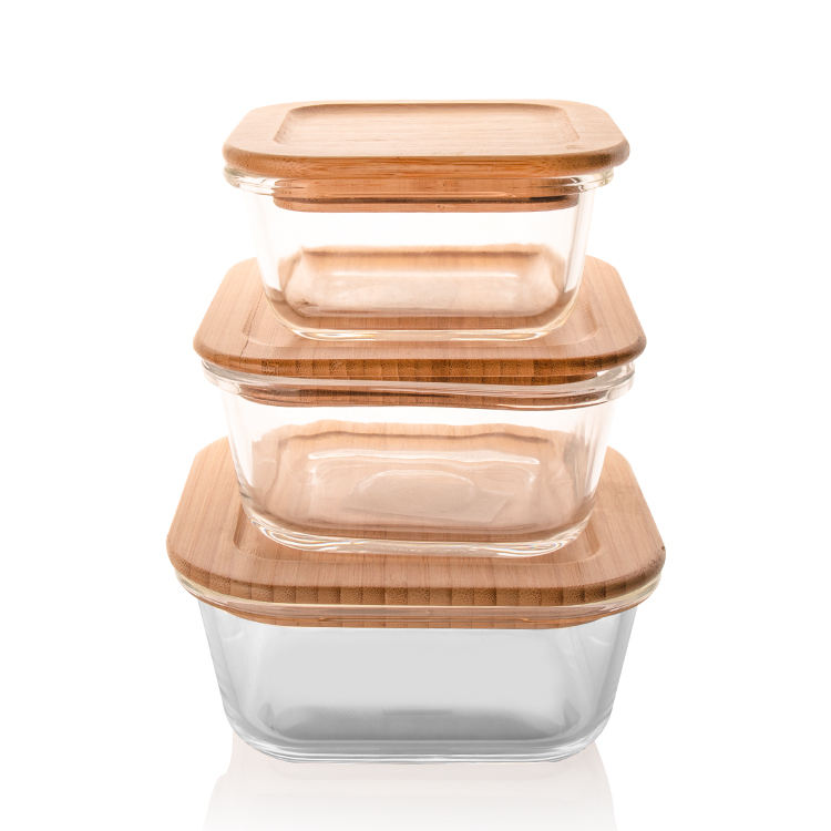 bamboo lid bowl take away take out food storage containers food box