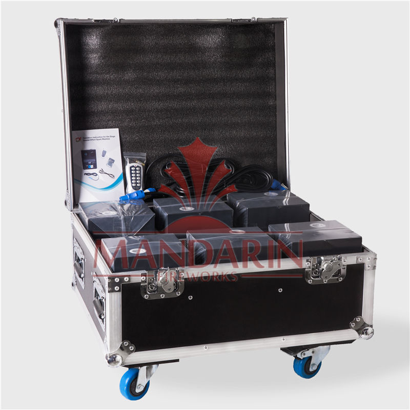 600W smokeless wedding fountain cold flame sparkling fireworks sparkles fire spark machine dmx remote