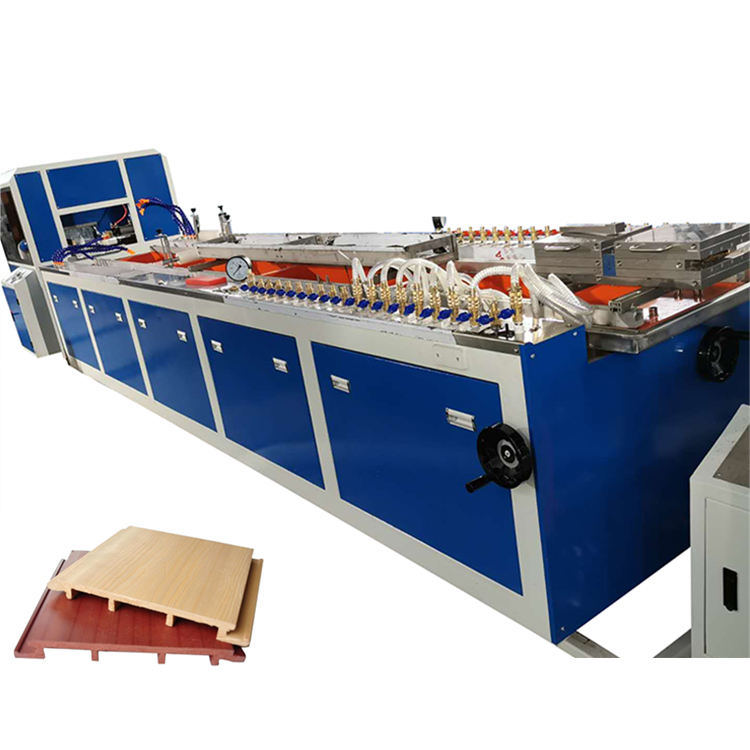 Wpc Line PE PVC WPC Wooden Profile Extrusion Machine Line With Conical Twin Screw Extruder