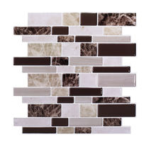 3D Peel and Stick Mosaic Tile Thicker Upgrade Home Decor  Kitchen Bathroom Showroom Self-adhesive Wall Sticker 12*12 Inch