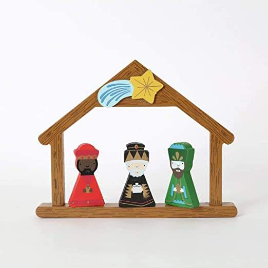Wooden classic nativity set holy night story play set indoor home display christmas wooden decoration