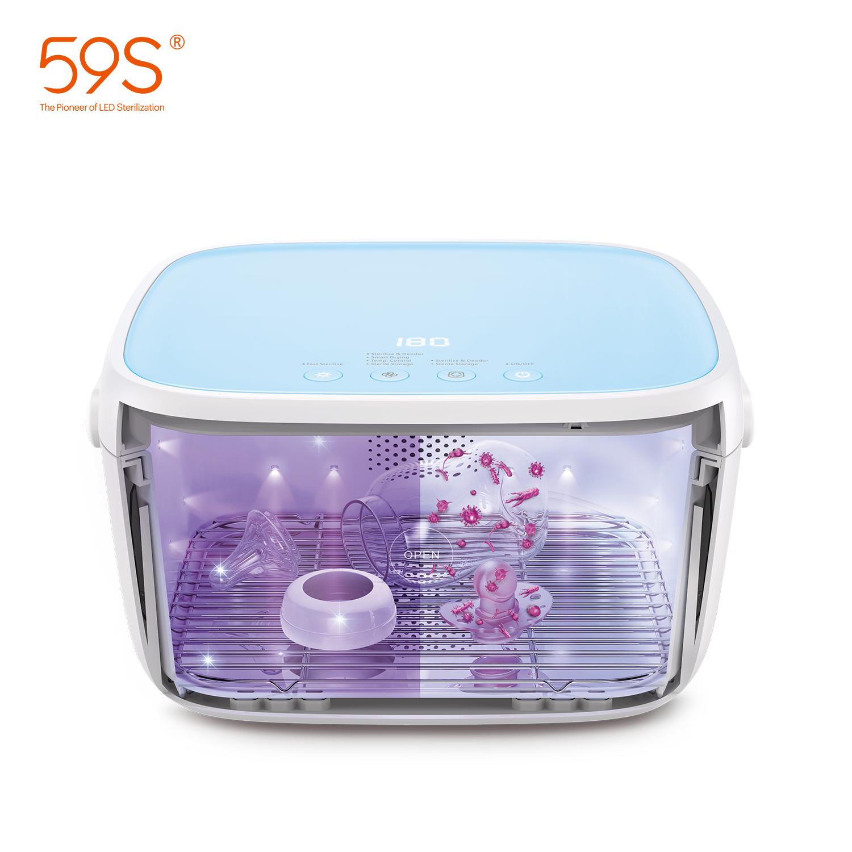 59S çok amaçlı UV sterilizatör mutfak dolabı dezenfeksiyon UVC ışık sterilizatör kurutma fonksiyonu ile