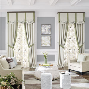 Custom window size and style drapes velvet curtains for the living room