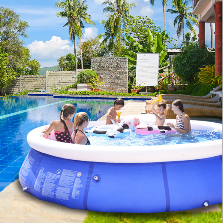 Amazom golden supplier wholesale PVC fabric inflatable swimming pool