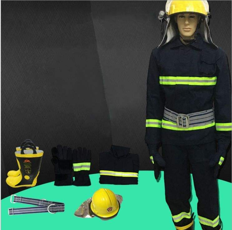 High Quality Fire Fighting Suit Waterproof Fireproof Firemen Suit