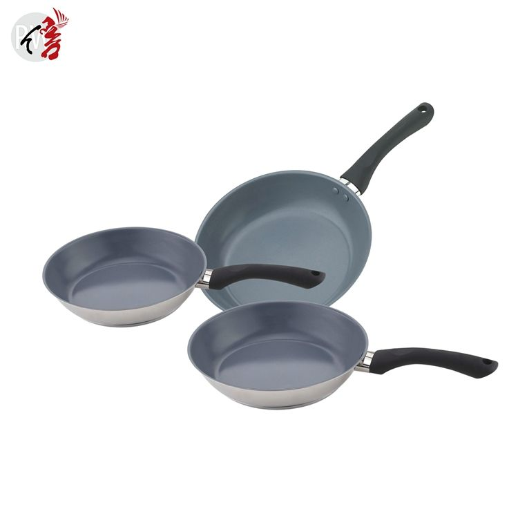 realwin new design ceramic coating frying pans used pots and pans sale