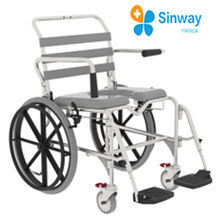 Shower Commode Chair With High Quality  Safety arms prevent falls and swing back out of the way for transfers