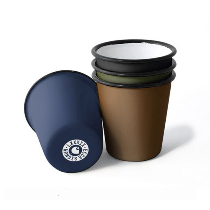 CHL 320ml custom matte white black wholesale sublimation coffee tea beer enamel tumbler without handle