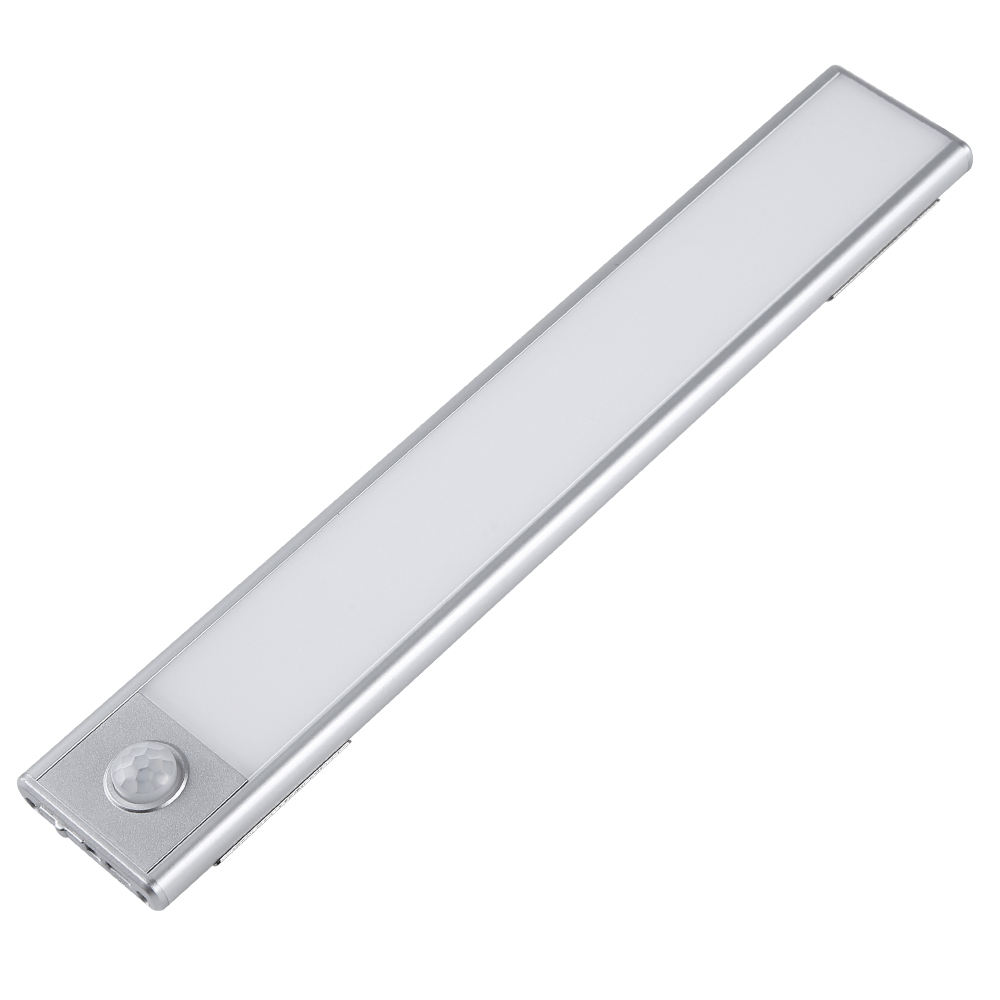 USB Motion Sensor Rechargeable Ultra Slim LED Under Cabinet Lights Closet Lamps with silk-printing guide plate