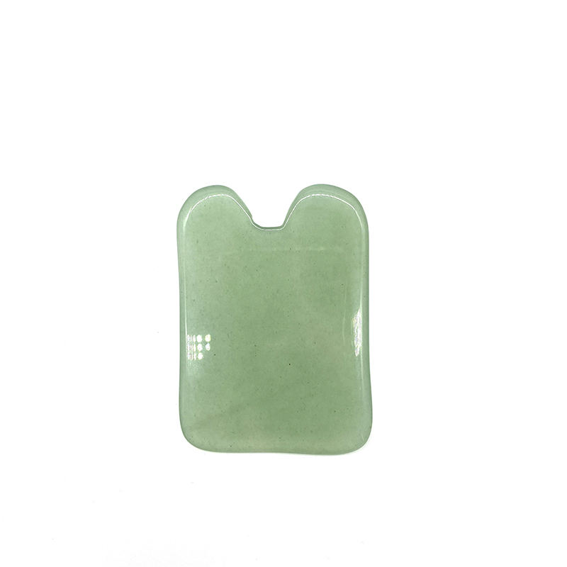 Newest sale Guasha massage tool Green aventurine guasha tool Natural stone scrapping plate