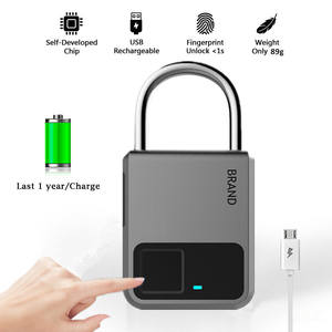 Plus récent USB Rechargeable D'empreintes Digitales Mini Cadenas