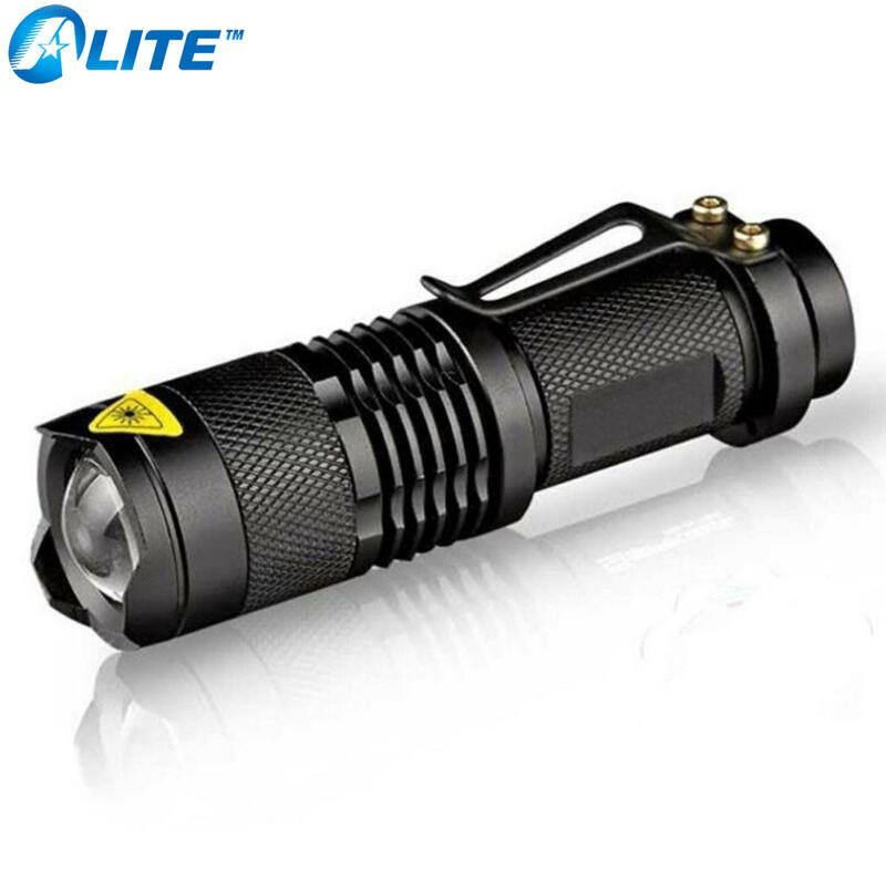 new mini flashlight 2000 lumens cree q5 led torch aa/14500 adjustable zoom focus torch lamp penlight waterproof for outdoor