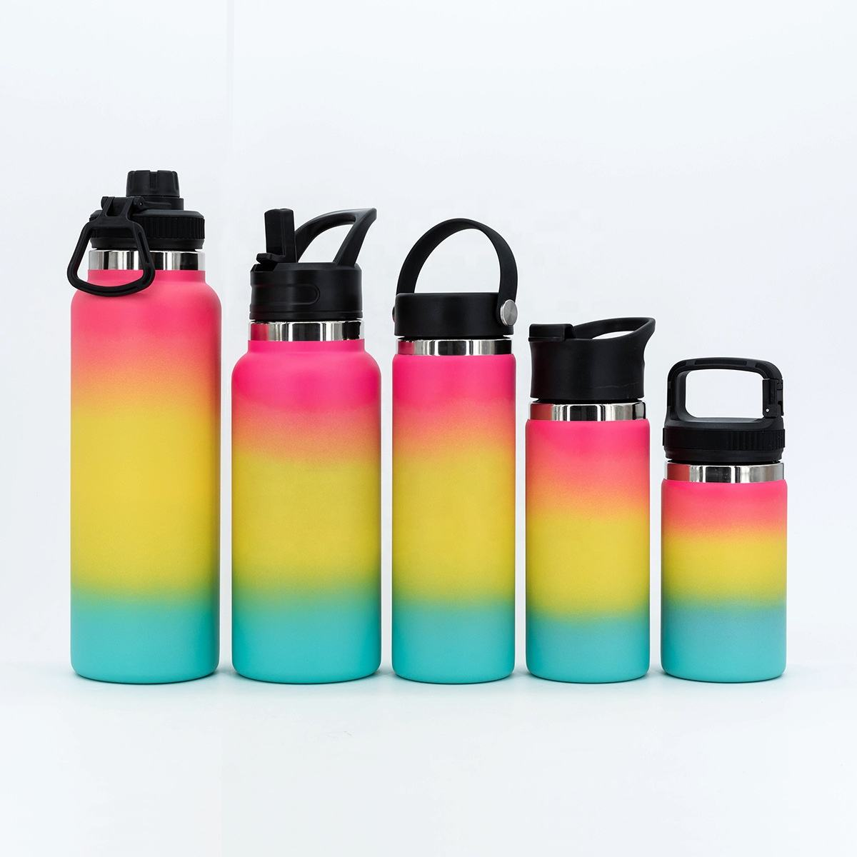 32 oz Custom printed stainless steel double wall vacuum insulate sports hiking water bottles flask