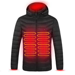 USB Battery Powered Heated 5V /2A Plus Size Women Men's Jacket Smart Temperature Control Outdoor Classic Style Puffer Jacket