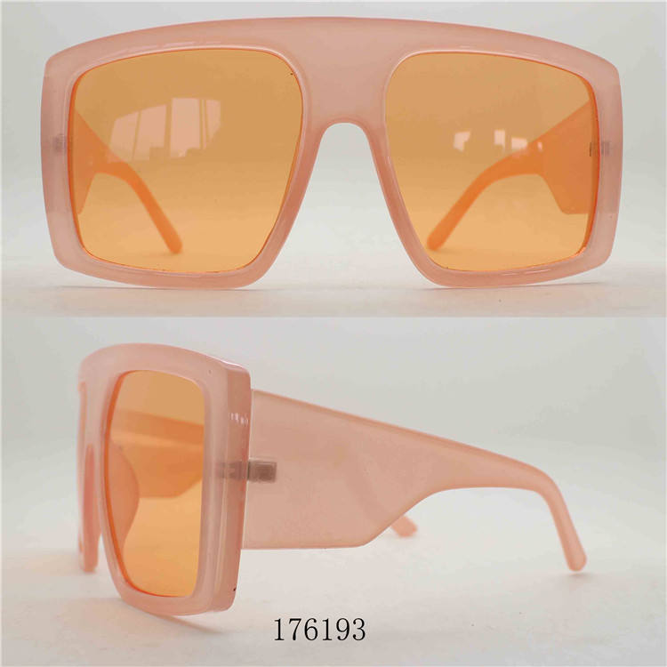Hot selling fashion flat top thick square frame big oversized women sunglasses