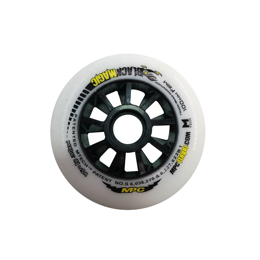 Professional super high rebound MPC PU polyurethane inline skate wheels