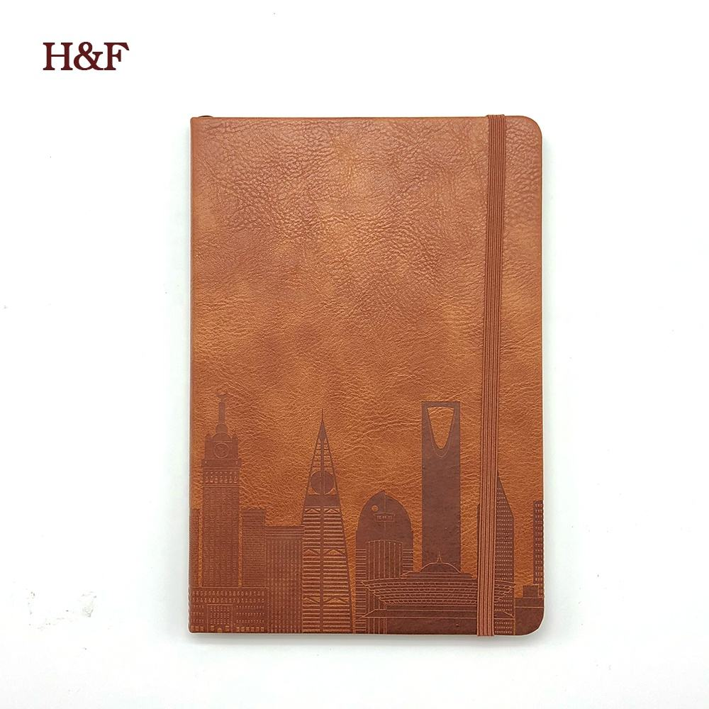 Customized wholesale stationery travel hard cover notebook