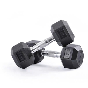 China cheap dumbbell sets rubber hex dumbbell weights fitness power free weights