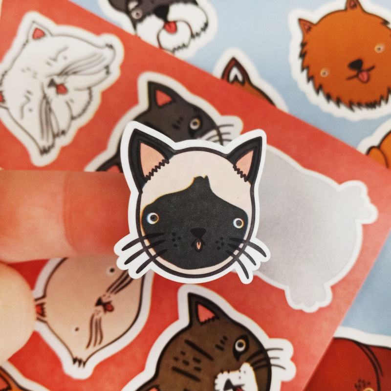 A4 A5 size sticker matte adhesive vinyl waterproof label custom kiss cut sticker sheets