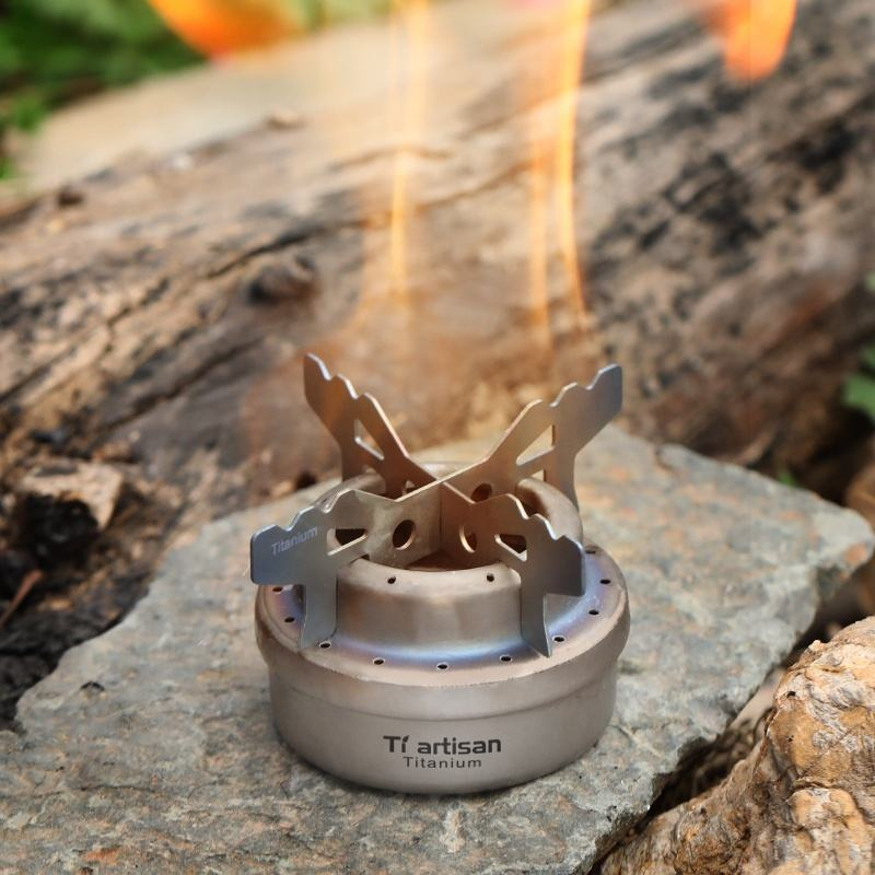 Ultrafun Mini Alcohol Stove Portable Ultralight Outdoor Spirit Burner Brass Stove for Backpacking Camping Hiking