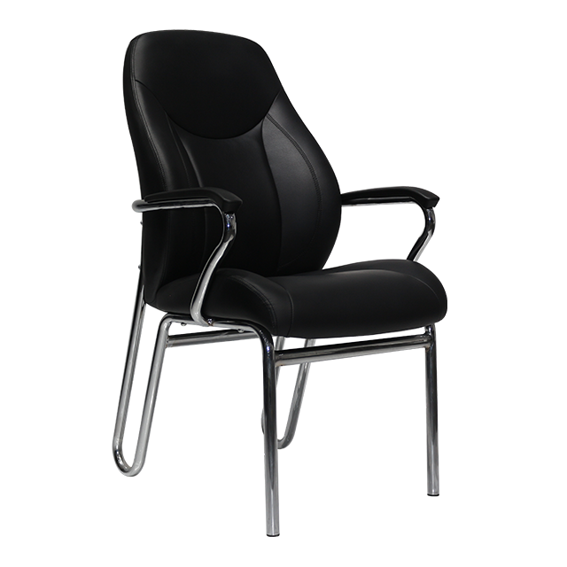 European Market Black Office Chairs Modern PU Leather Chair Office Furniture Retailing Support