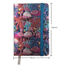 2020 New Arrivals Gold Foil Embossing Art A6 Notebook for Pink Flamingo Gift