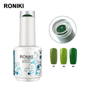 RONIKI Private Label Nail Gel Polish Free Samples 15ML Color Soak Off UV Gel For Nail Painting