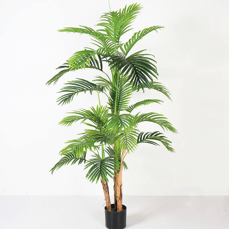 M368 Hot Sale Cheap Indoor Decorative Plastic Palm Bonsai Trees Green Plants Artificial Tree For Home Wedding Decor